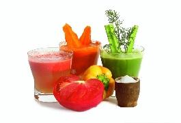 Свежевыжатые соки из овощей и фруктов.