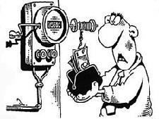 Электрический счётчик.