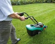 Стрижка газона газонокосилкой
