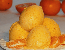Домашнее мандариновое мороженое со сгущенкой