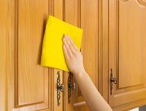 Чем отмыть жир на кухонных шкафах?