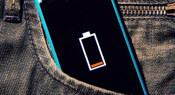 Разряженная батарея на телефоне