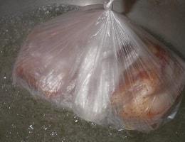 Сало вареное в пакете