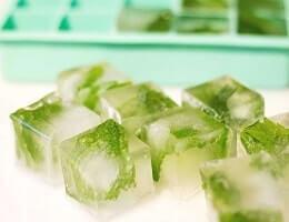 Кубики льда с травами