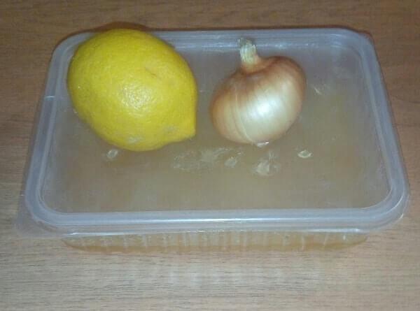 Лук, мёд и лимон от кашля