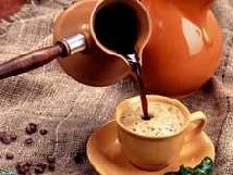 Вкусный кофе в турке.