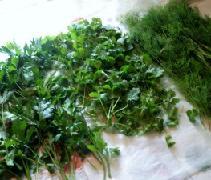 Зелень на столе