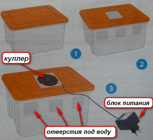 Схема увлажнителя воздуха