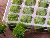 Зелень, замороженная кубиками
