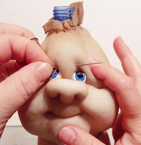 Кукла из старых капроновых колготок