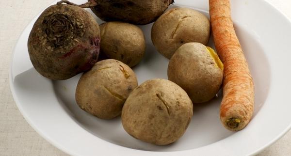 Варёные овощи для салата
