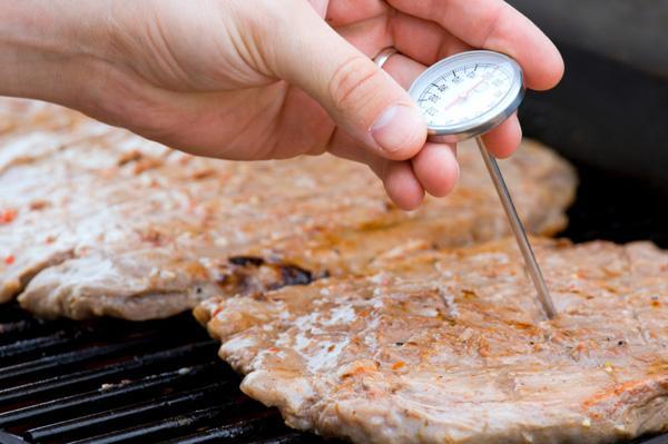 Определяем температуру мяса