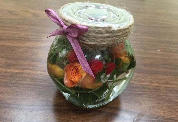 Законсервированные цветы в глицерине