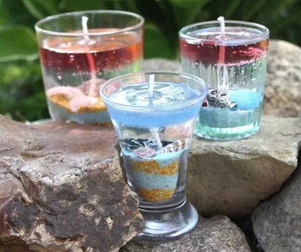 Прозрачные гелевые свечи