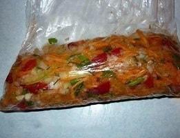 Замороженная овощная заправка для супа