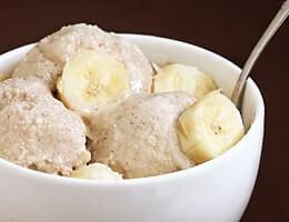 Кефир с бананом для домашнего мороженого