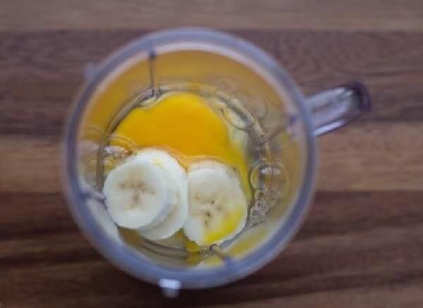 Шампунь из банана и яйца
