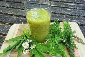 смузи +из дикорастущих трав