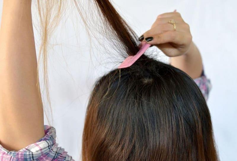 Фото начеса волос