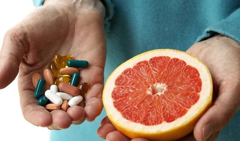 Опасность грейпфрута при приёме лекарств