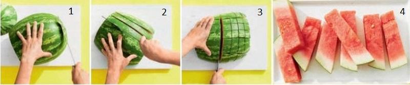 Как порезать арбуз на праздничный стол?