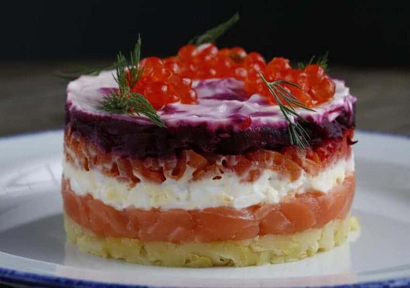 Салат круглой формы