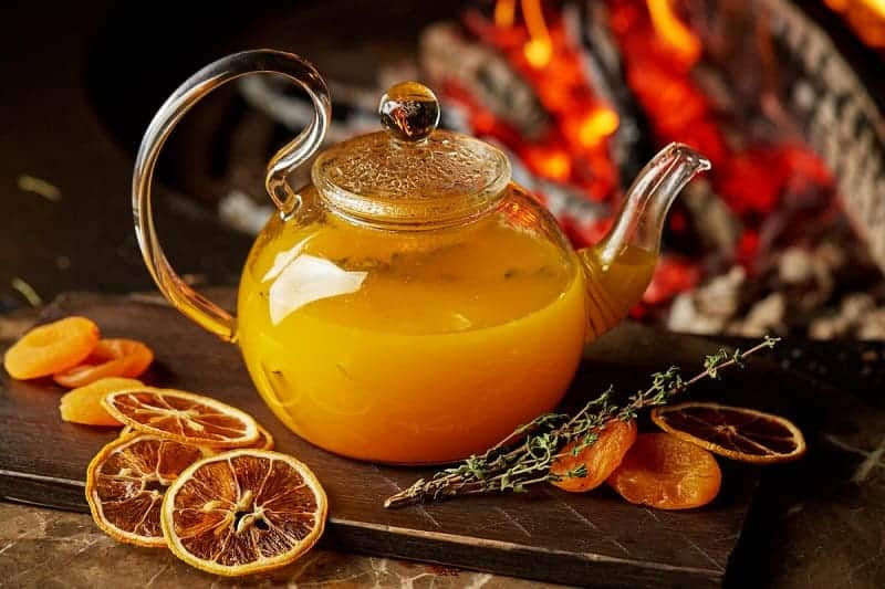 Облепиховый чай с имбирем и медом