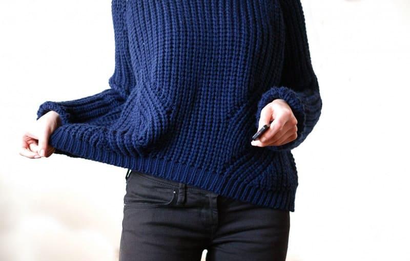 Растянулся свитер