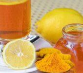 Чай с лимоном и куркумой