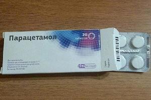 Таблетки парацетамола для очистки утюга
