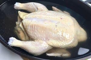 Вымачивание курицы в солёной воде