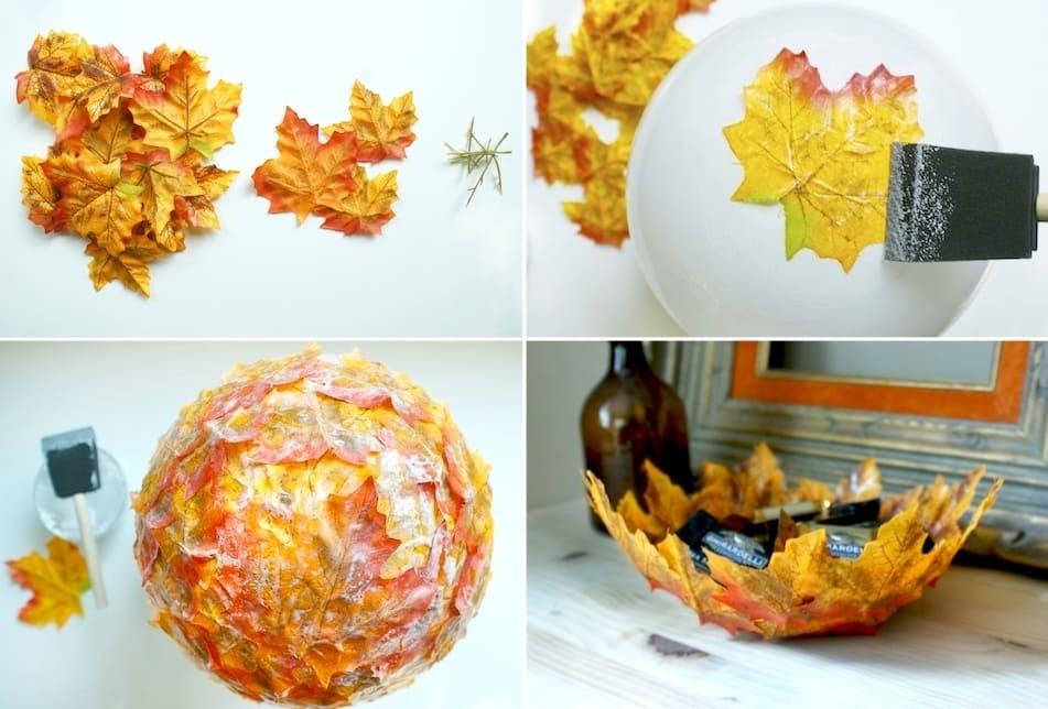 Как сделать блюдо из осенних листьев?