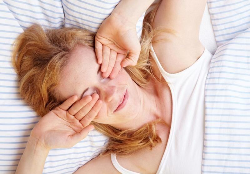 Девушка утром после пробуждения