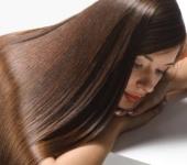 Длинные блестящие волосы