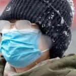 Ношение медицинской маски в мороз