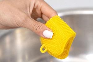 Силиконовая губка для мытья посуды для удаления шерсти животных
