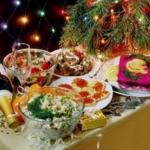 Салаты на новогоднем столе