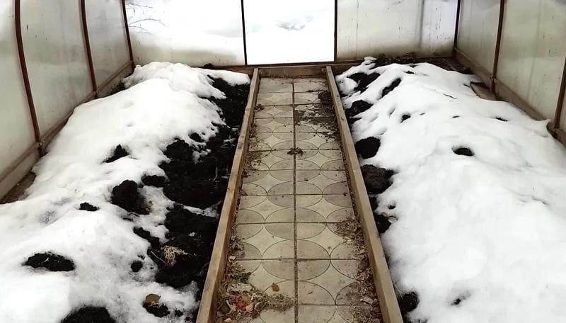 Почва в теплице ранней весной