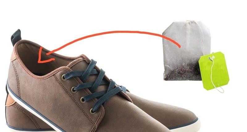 Чайные пакетики для устранения запаха в обуви